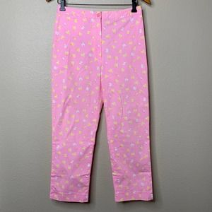 Lilly Pulitzer Y2K Firefly Pants Cropped Vintage